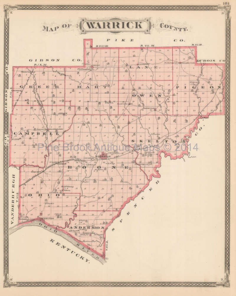 Indiana spencer county rockport - Click Thumbnails To Enlarge Original Warrick And Spencer County Indiana