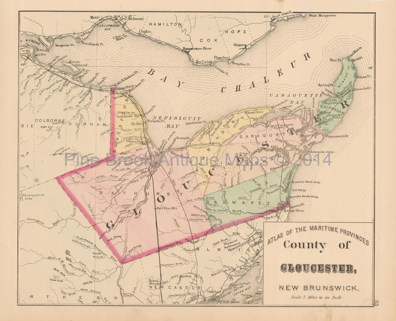 Gloucester County New Brunswick Antique Map Roe 1878 Authentic Decor on map of washington county, map of lincoln county, map of appomattox county, map of essex county, map of worc county, map of amelia county, map of grand isle county, map of belfast county, map of clarke county, map of portland county, map of st mary's county, map of york county, map of prince george's county, map of italy county, map of rockbridge county, map of new hampshire county, map of maury county, map of rappahannock county, map of preston county, map of carlisle county,